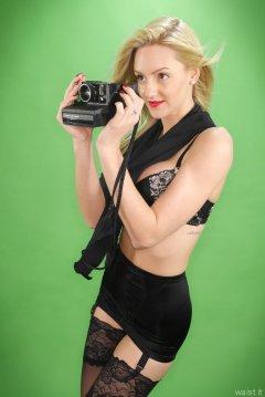 2015-06-03 DollyBird black bra and girdle