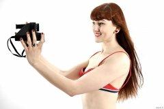 2015-06-21 Esme Shard swimsuit with Polaroid camera