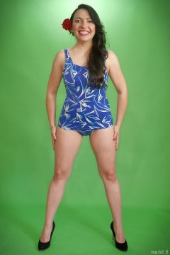 2015-06-27 Marta vintage tummy-control swimsuit