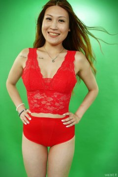 2015-07-13 Laura red top and girdle