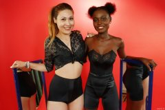 2015-07-13 Laura and Ajara retro fitness pinup shoot