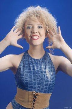 2015-08-14 Jazz in blue M&S croc skin swimsuit