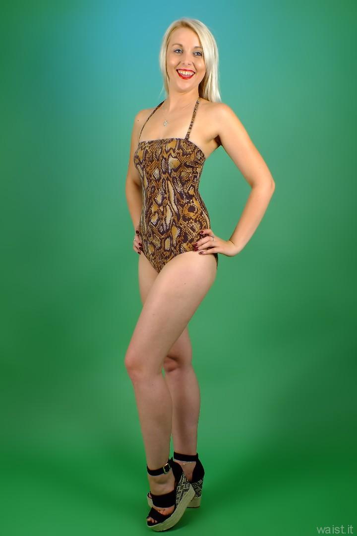 2015-08-22 Princess K animal print swimsuit