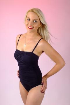 2015-08-22 Princess K one-piece tummy-control swimsuit