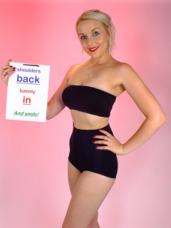 2015-08-22 Princess K black boobtube and girdle