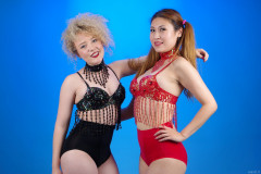 2015-09-13 Jazz and Laura in dance costumes