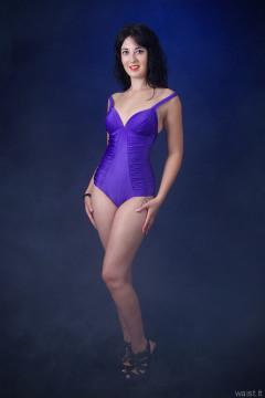 2015-09-18 Becki Lavender purple tummy-control, swimsuit