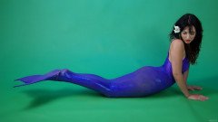 2015-09-18 Becki Lavender mermaid costume