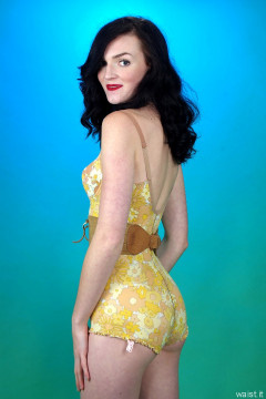 2015-10-24 Jodi Beth vintage Berlei flowerpower corselette