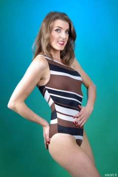 2015-11-06 GinA1 in one-shoulder one pice swimsuit circa early 1990's