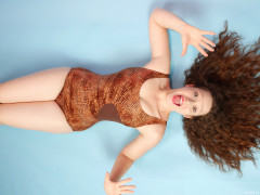 2015-12-04 Yana bronze Halfmoon tummy-control swimsuit