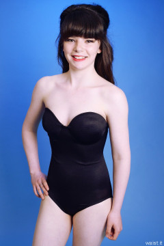 20160522 Ronnie97 in black strapless Miraclesuit bodyshaper