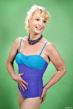 2016-07-03 Nettie vin blue retro tummy controk swimsuit by M&S