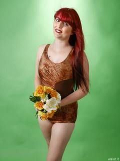 2016-09-03 Miss Danni Lou vintage Half-Moon swimsuit