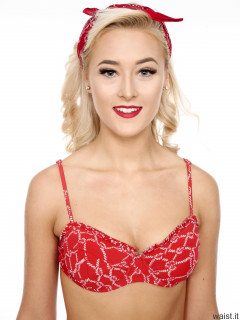 2016-11-06 Fleur in her own red frilly bikini
