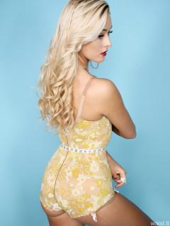 2016-11-06 Fleur yellow Berlei flowerpower pantie corselette from circa 1967