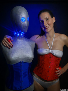2016-11-20 MissGlamour silver bikini and corset - lit by LED