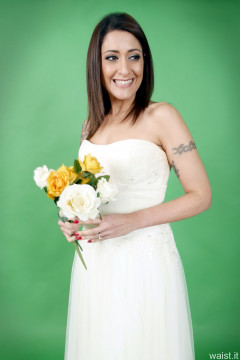 2016-11-26 Zoe34 in her own wedding dress