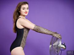 2016-12-04 Nannina in animal print swimsuit