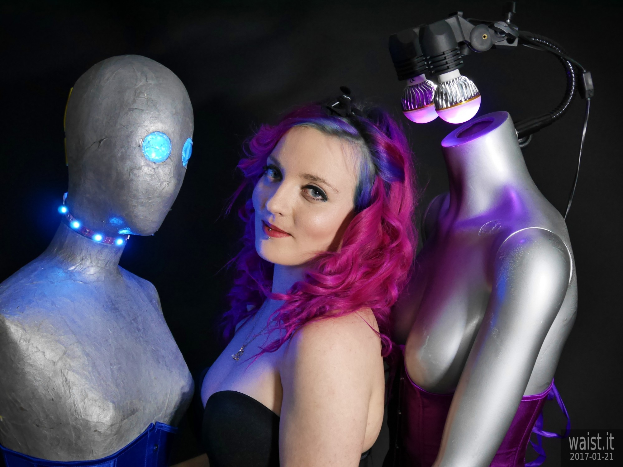 2017-01-21 Tasha in black Miraclesuit with mannequins