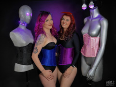 2017-01-21 MissDaniLou and Tasha in tightly laced underbust corsets