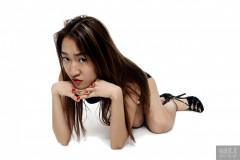 2017-01-28 Salina Pun in black bra and control briefs worn as hotpants - chosen by model