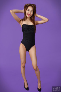2017-01-28 Salina Pun black vintage style one-piece swimsuit by M&S