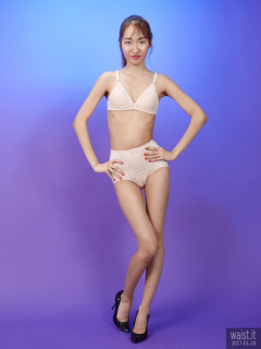 2017-01-28 Salina Pun beige 60's style bra and pantie girdle set