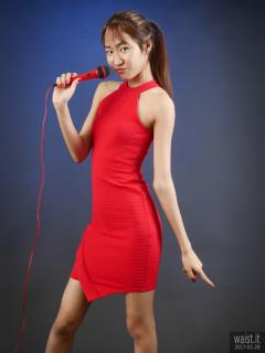2017-01-28 Salina Pun red cocktail dress