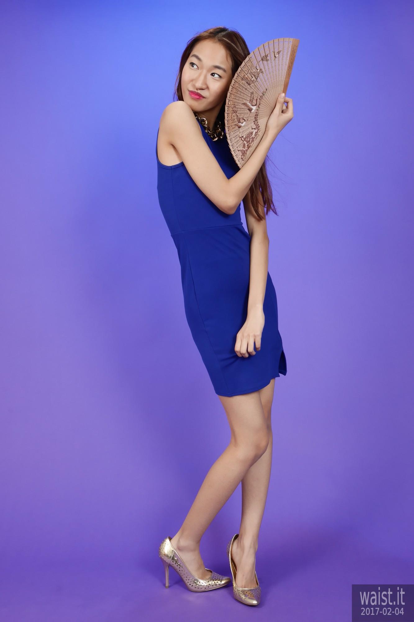 2017-02-04 Salina Pun little blue dress
