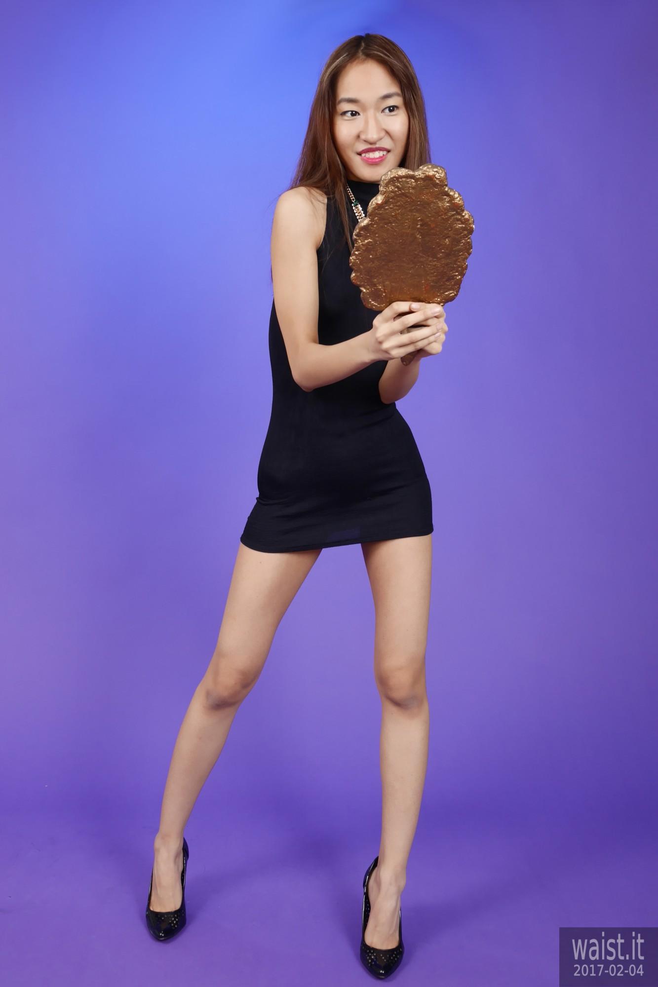 2017-02-04 Salina Pun in little black dress - chosen by model