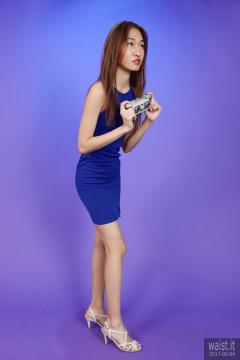 2017-02-04 Salina Pun in little blue dress - chosen by model