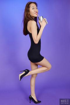 2017-02-04 Salina Pun little black stretchy lycra dress