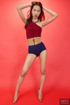 2017-02-04 Salina Pun alternative Wonderwoman outfit - chosen by model