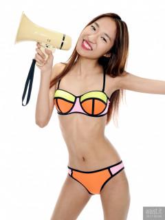 2017-02-04 Salina Pun chinese multicoloured bikini
