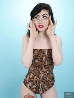 2017-02-18 Alexa Rose animal print one-piece swimsuit