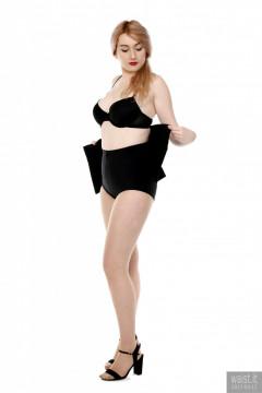2017-03-11 LilyAmber black bra and style 210 pantie girdle plus black Chinese waist trainer