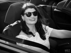 2017-04-09 Imogen in her VW Golf cabriolet