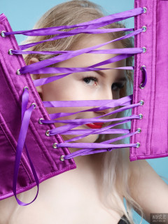 2017-05-19 Laura Sele playing with purple corset