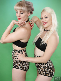 2017-06-10 Tummy In! - Dayna Nirvana and Emma Lou in black boob tubes and animal print control briefs worn as hot pants