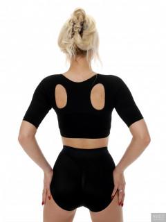 2017-08-15 Jade-Lauren black bra and control briefs worn as hot-pants