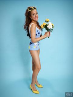 2017-08-19 Natty Badger sixties one piece swimsuit