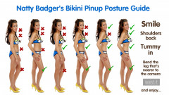 2017-08-19 Natty Badger vintage pinup posture guide