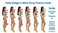 2017-08-19 Natty Badger vintage pinup posture guide