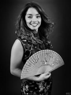 2017-09-03 Paula Soares in black cheongsam