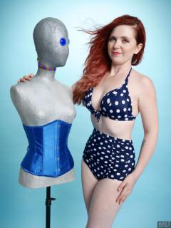 2017-09-17-lj-high waist polka dot bikini - with the droid