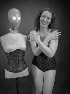 2019-03-30 Chiarashows she can still fit into herVollers corset and tight control briefs
