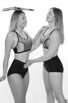 2019-05-04 Fabiene and CloEliza work on their posture and deportment
