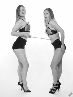 2019-05-04 Tummy in! Fabiene and CloEliza work on their posture and deportment