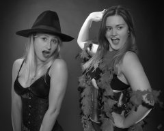 2019-05-04 Fabiene and CloEliza having fun with some serious corsetry